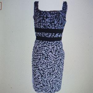 Jessica Howard Dress Black White Floral New